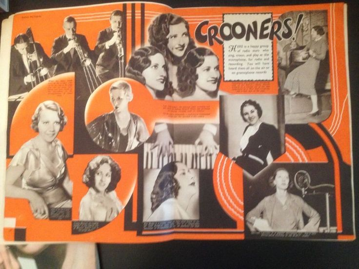 Crooning was a new soft style of singing only made possible by the microphone.