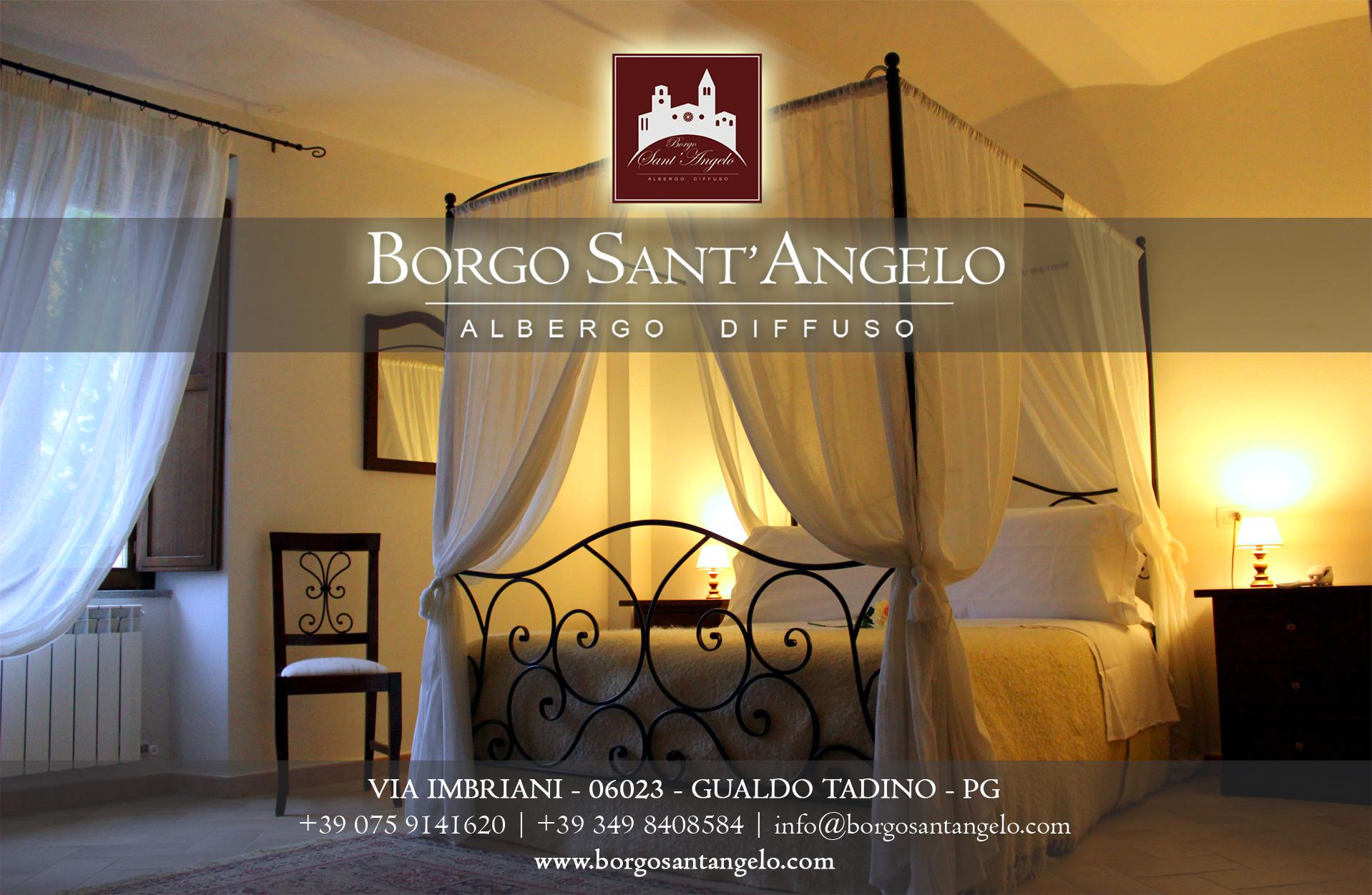 BORGO SANT'ANGELO ALBERGO DIFFUSO - Via Imbriani - GUALDO TADINO (Pg)Tel. +39 075.9141620 Mob. +39 349.8408584www.borgosantangelo.com info@borgosantangelo.com