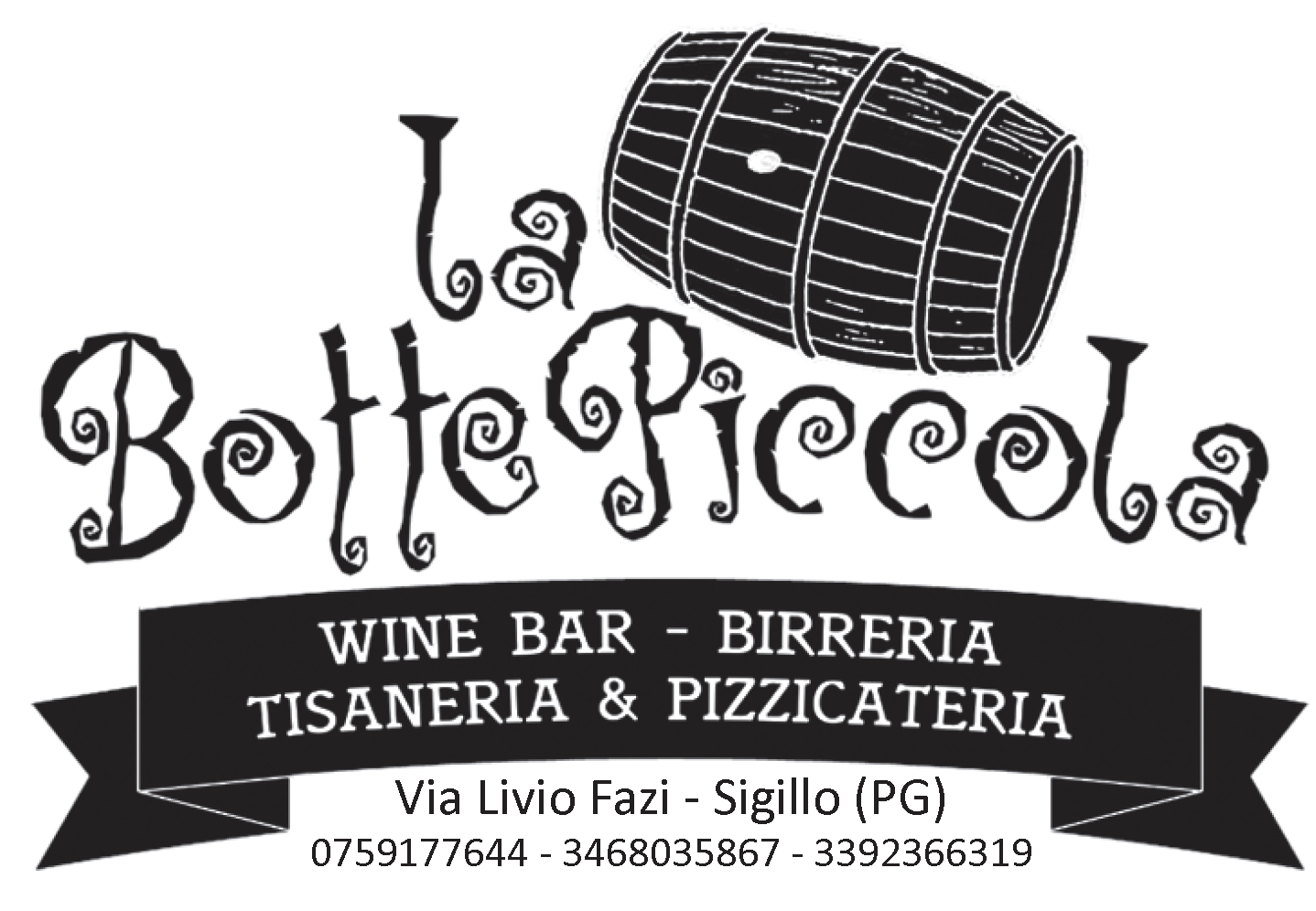 LA BOTTE PICCOLA - Via Livio Fazi - SIGILLO (Pg)Tel. +39 075.9177644 - +39 3468035867Facebook
