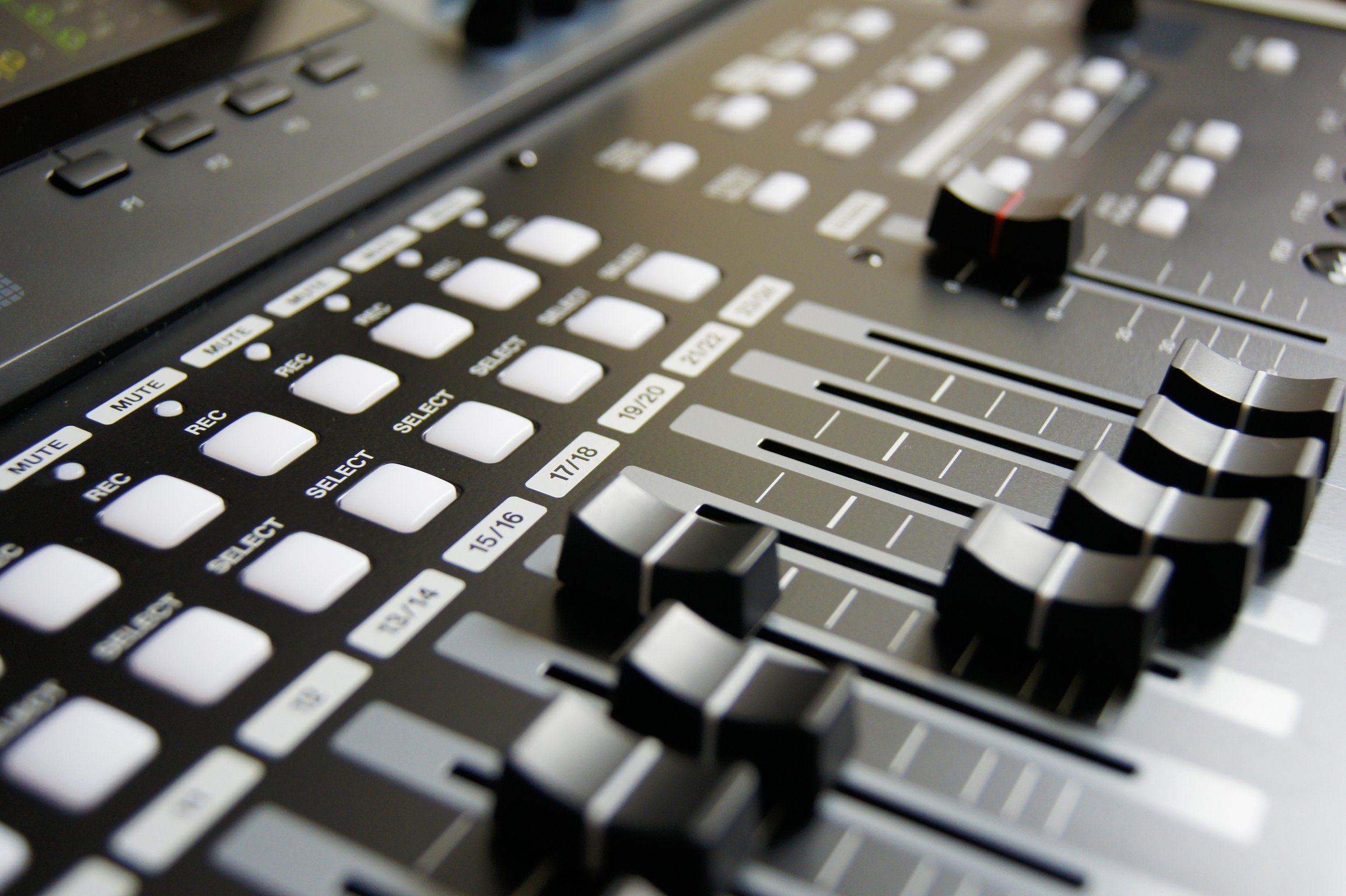 Audio - Our facilities include two state of the art recording studios with optional audio engineering services. There are no other audio production facilities like ours in the Cincinnati area.Click here to learn more about recording!