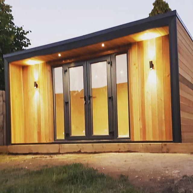 Canadian Cedar job complete. #gardenpod #gardendesign #gardenroom #gardenrooms #summerhouse