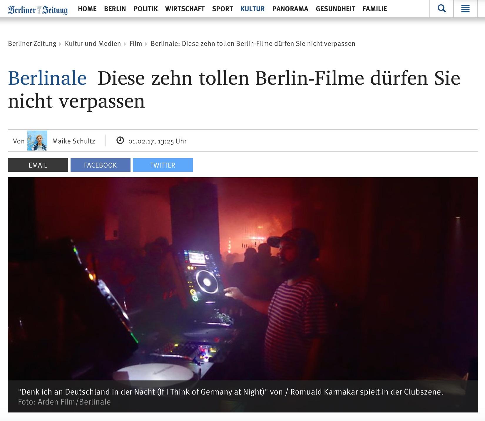 Berlinale:Diese zehn tollen Berlin-Filme dürfen Sie nicht verpassen