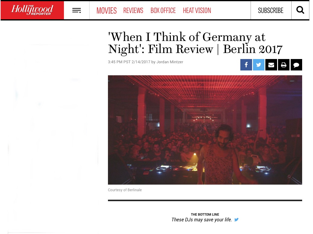 IF I THINK OF GERMANY AT NIGHT: Film Review / Berlin 2017