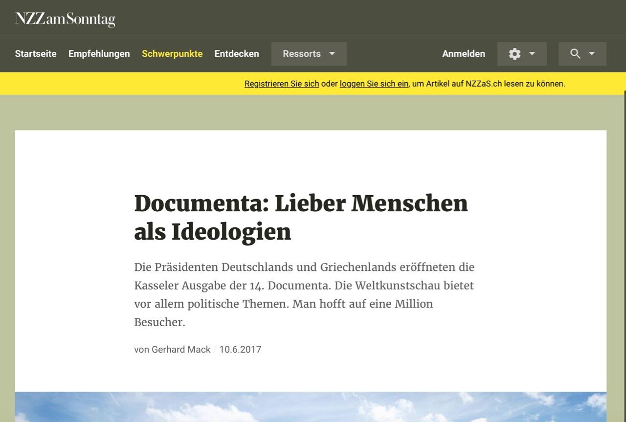 Documenta: Lieber Menschen als Ideologien