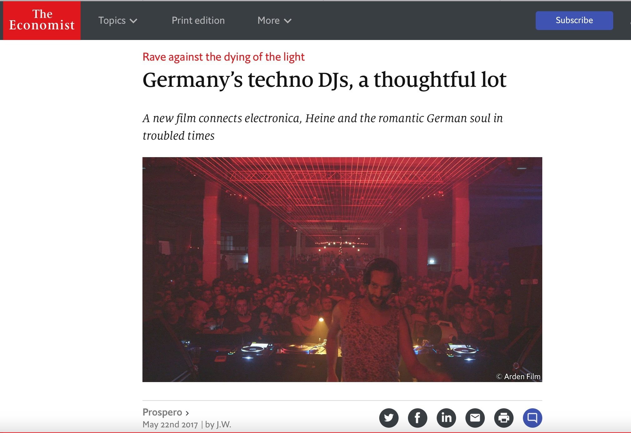 Copy of Copy of Germany's techno DJs, a thoughtful lot