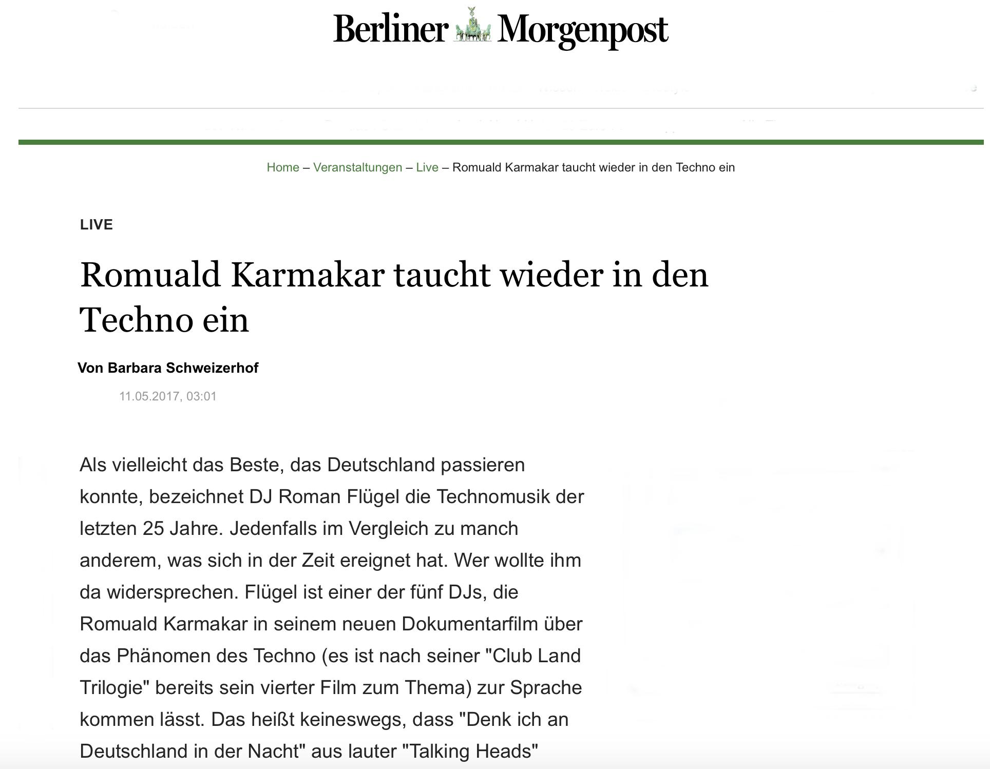Romuald Karmakar taucht wieder in den Techno ein