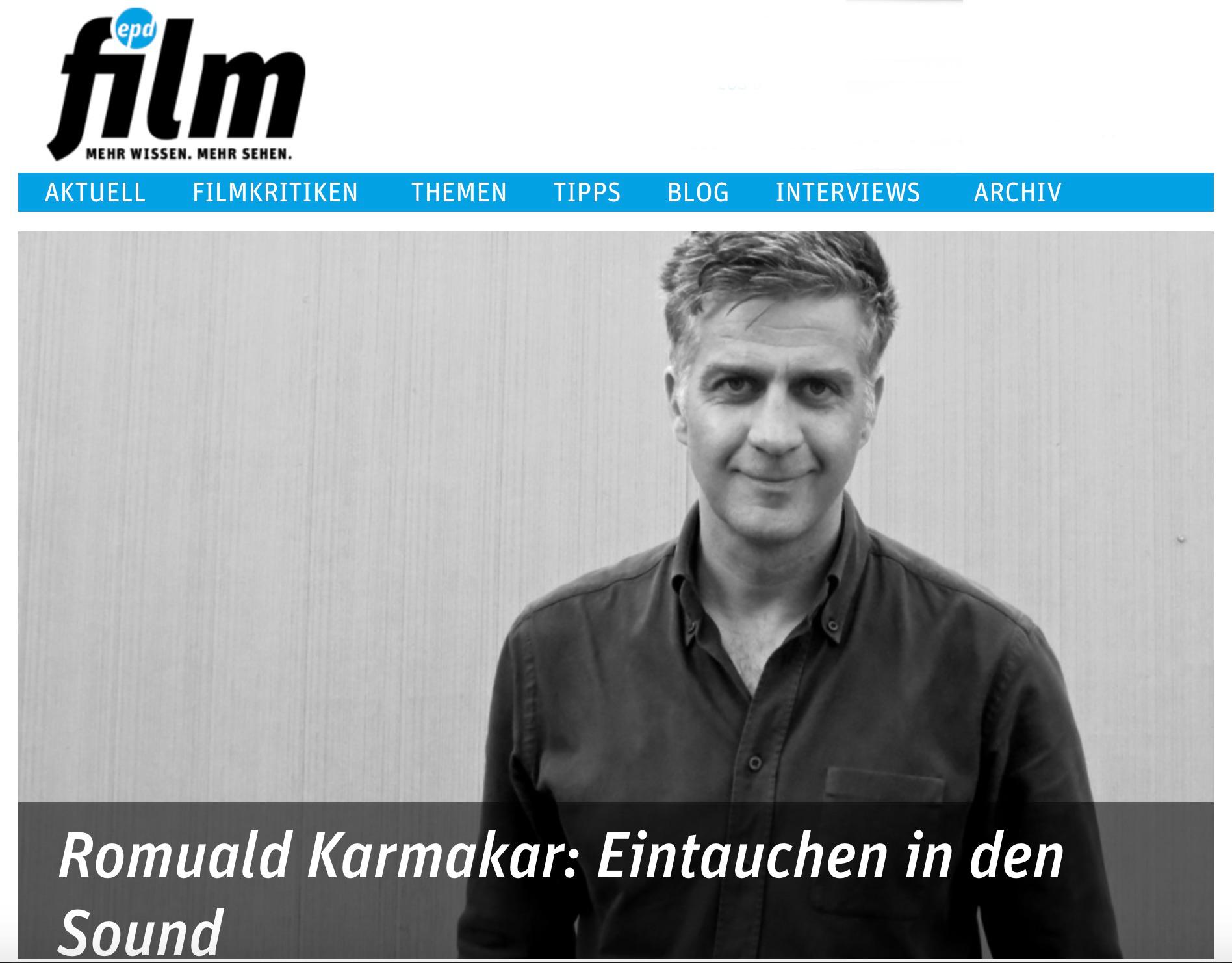 Romuald Karmakar: Eintauchen in den Sound