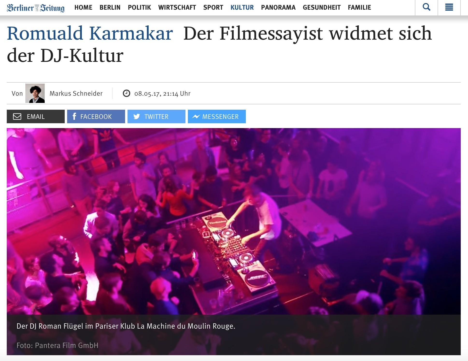 Copy of Romuald Karmakar: Der Filmessayist widmet sich der DJ-Kultur