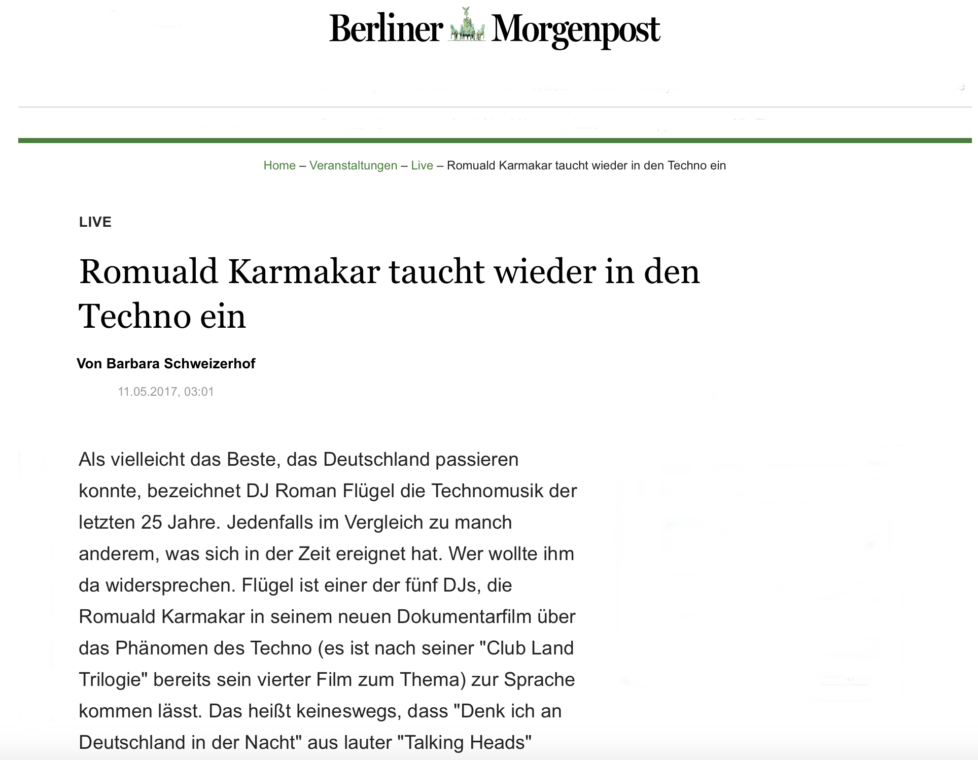 Copy of Copy of Romuald Karmakar taucht wieder in den Techno ein