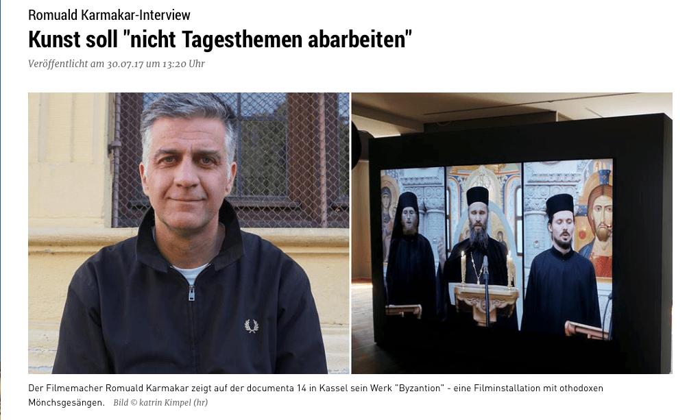 """Kunst soll """"nicht Tagesthemen abarbeiten"""""""