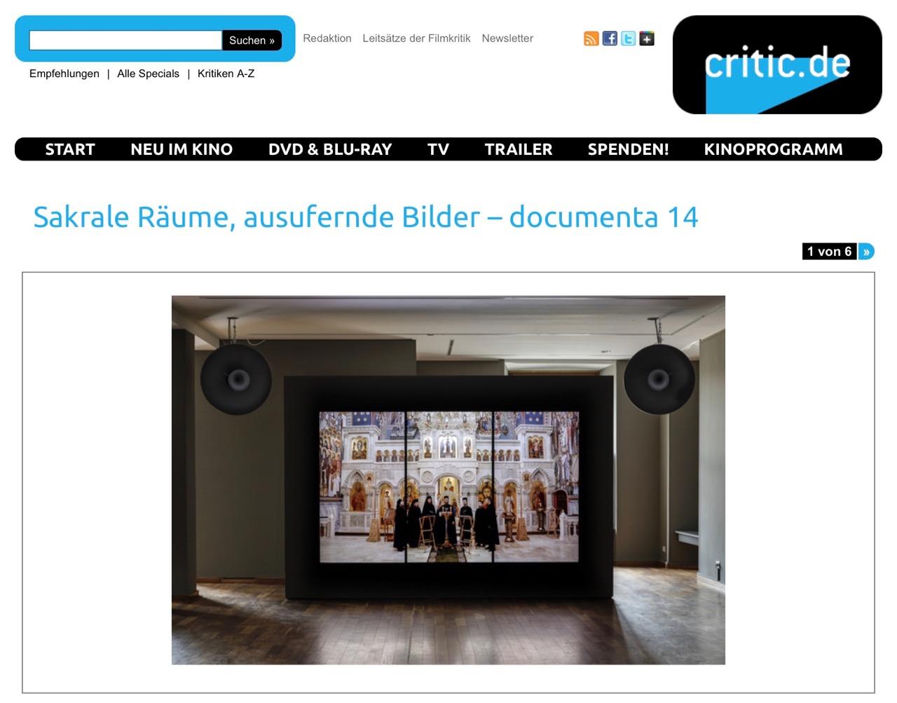 Sakrale Räume, ausufernde Bilder – documenta 14