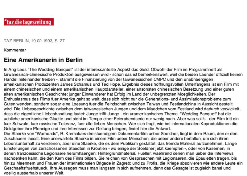 Eine Amerikanerin in Berlin