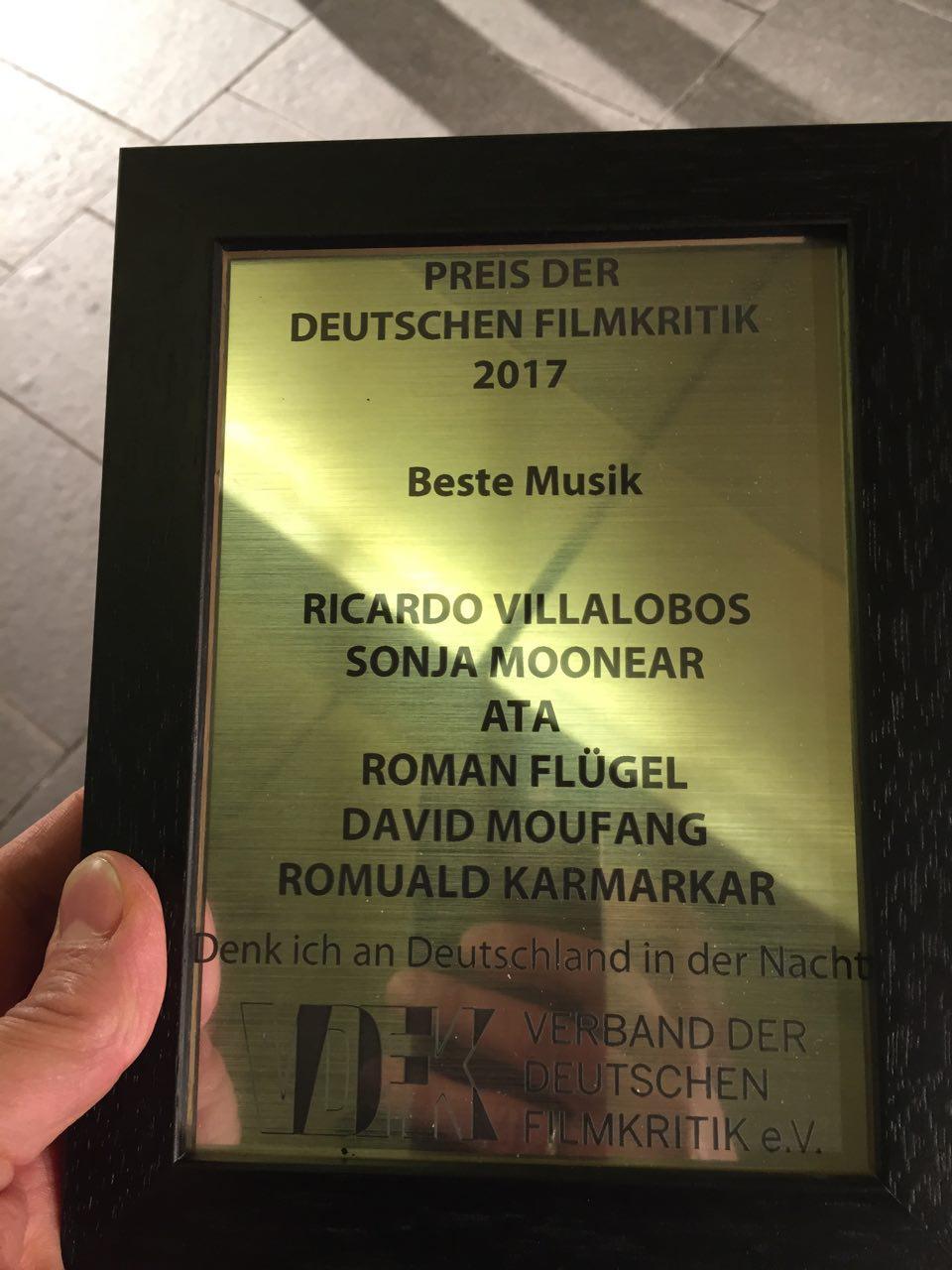 PREIS DER DEUTSCHEN FILMKRITIK 2017 / BESTE MUSIK