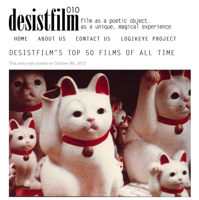 DESISTFILM'S TOP 50 FILMS OF ALL TIME