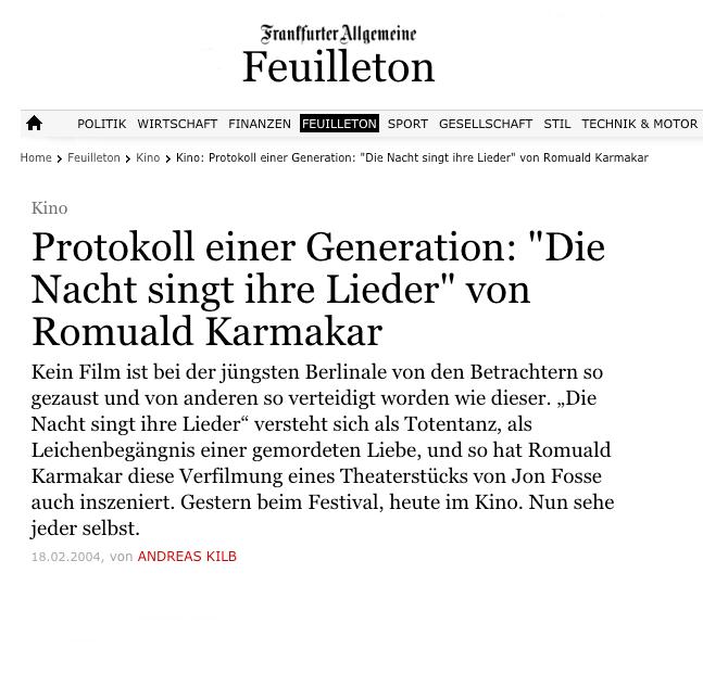 PROTOKOLL EINER GENERATION