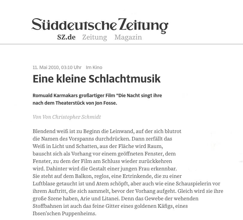 EINE KLEINE SCHLACHTMUSIK