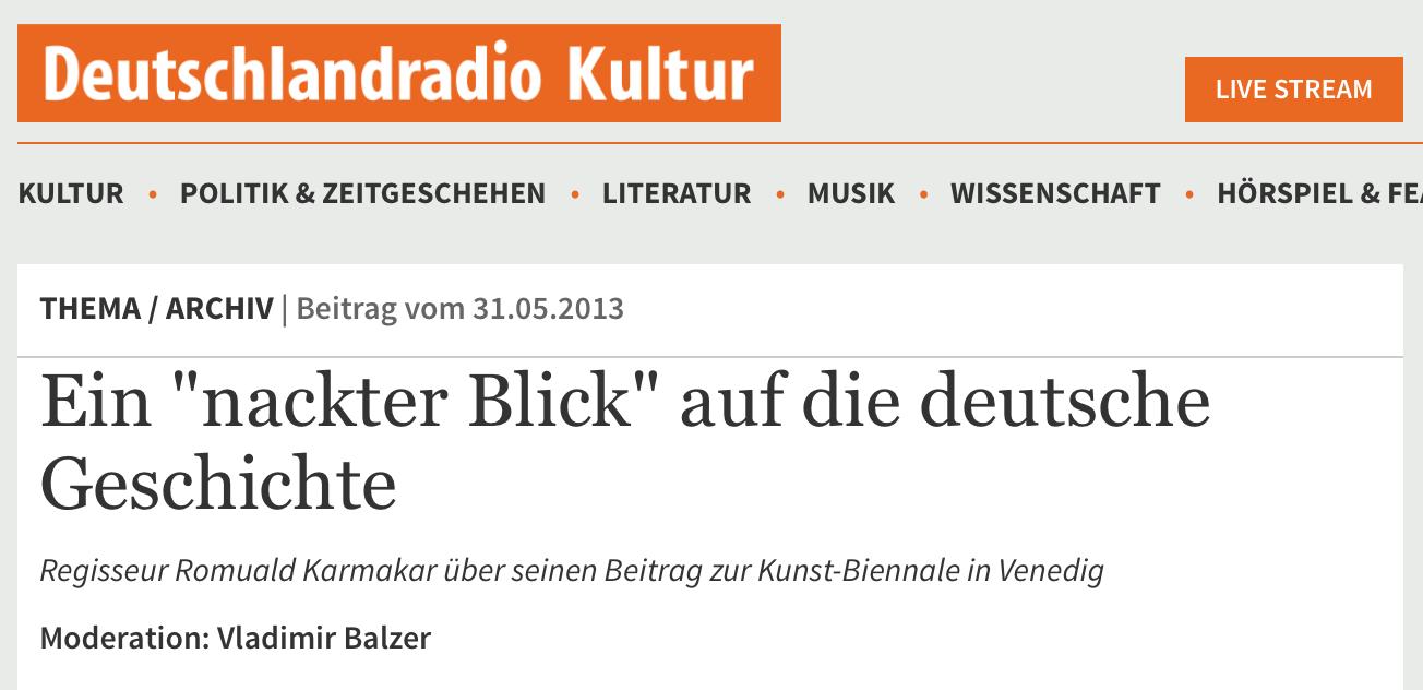 """EIN """"NACKTER BLICK"""" AUF DIE DEUTSCHE GESCHICHTE"""