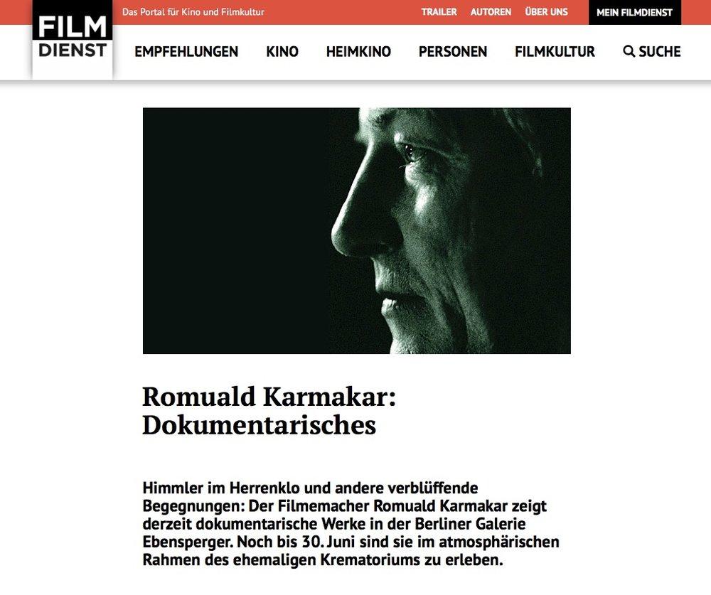 ROMUALD KARMAKAR: DOKUMENTARISCHES