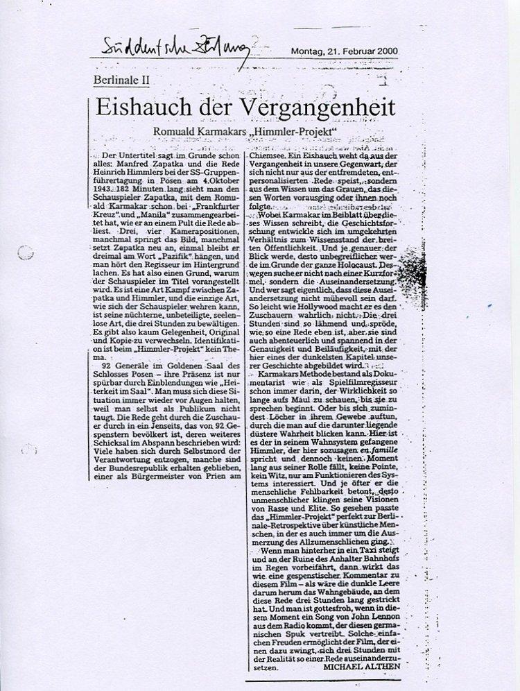 EISHAUCH DER VERGANGENHEIT