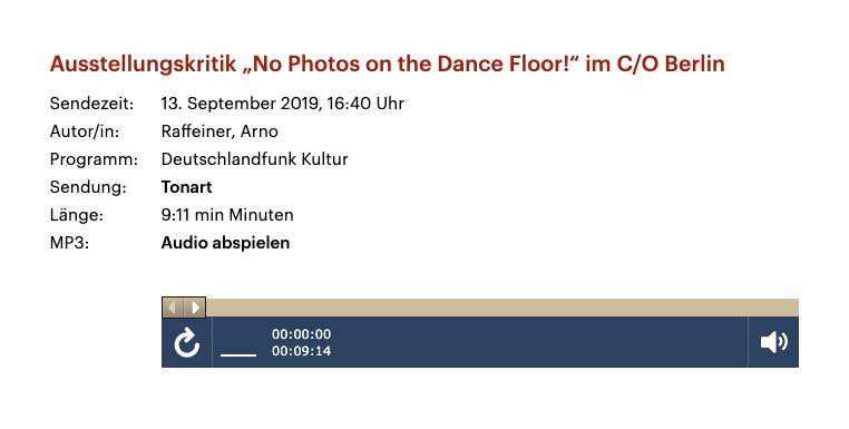 """Ausstellungskritik """"No Photos on the Dance Floor!"""" im C/O Berlin"""