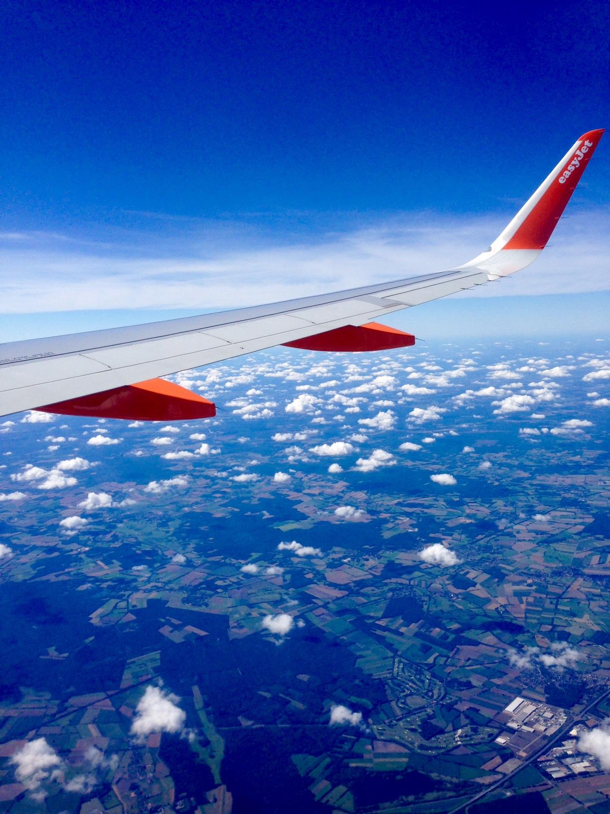 Flying from Kiel, Germany, to Split in Croatia.