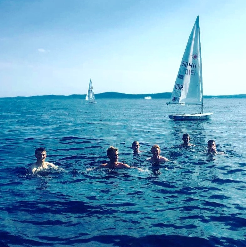 The heat got too much for the team during a training session in Croatia!