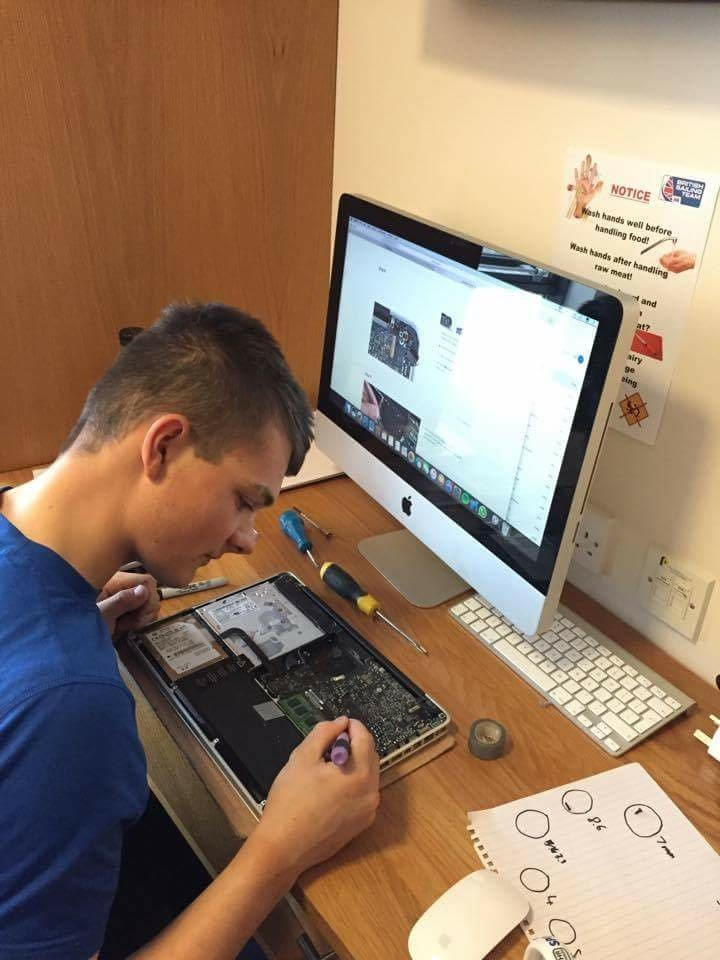 Repairing a friends computer - one of my many hobbies I enjoy in my free time.
