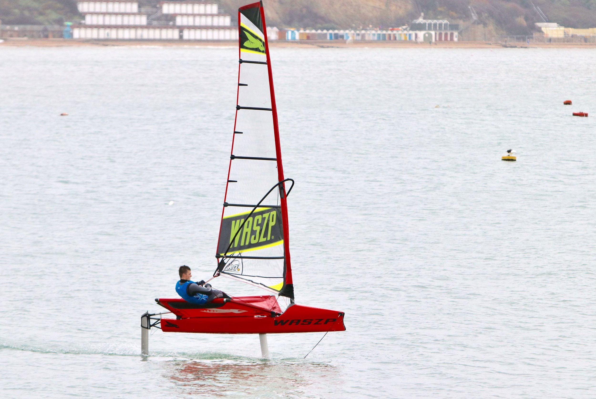 The Waszp foiling dinghy which I am learning how to sail.