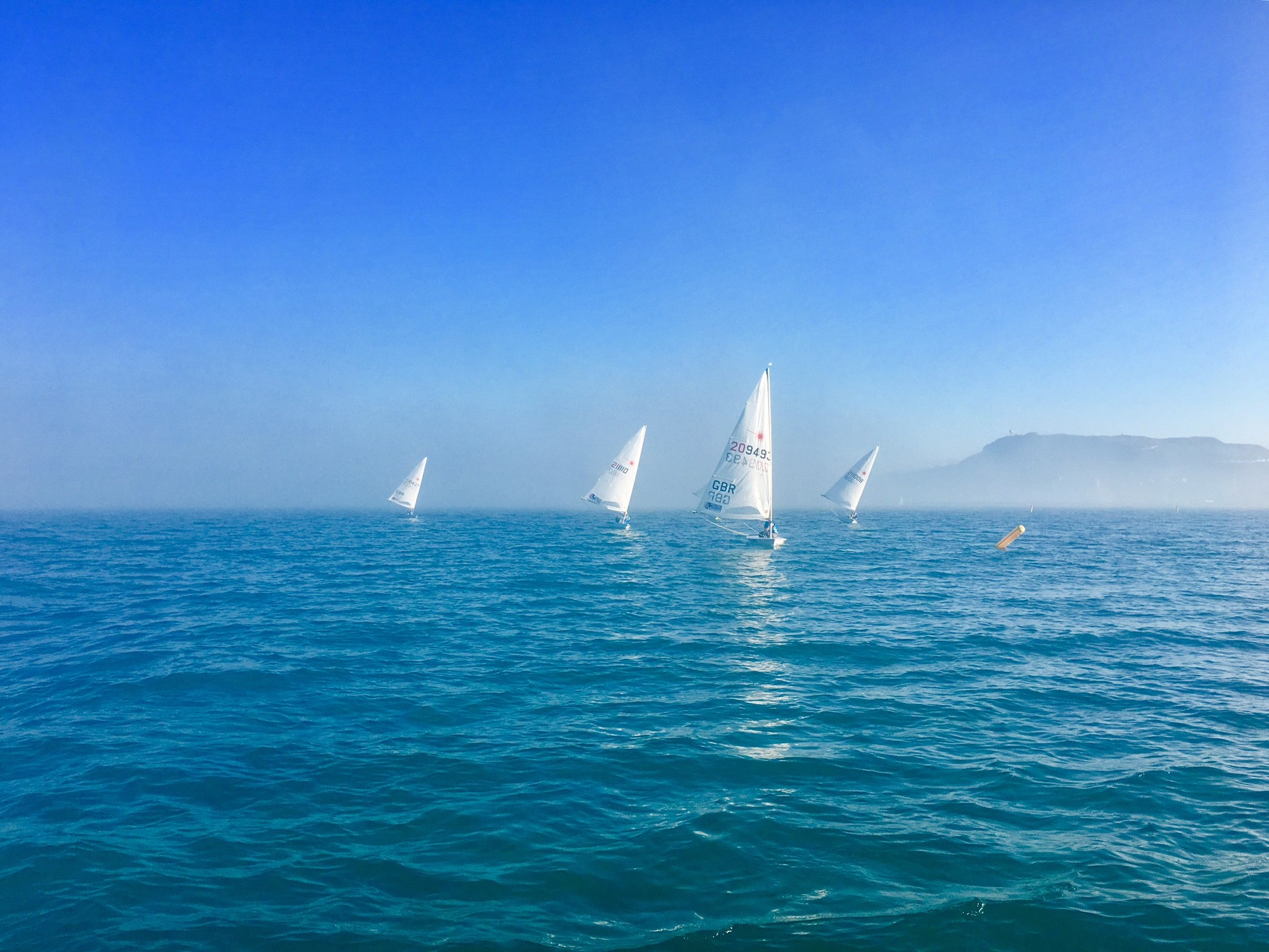 The first warm day of 2017. Pretty cool sailing in the fog as well.