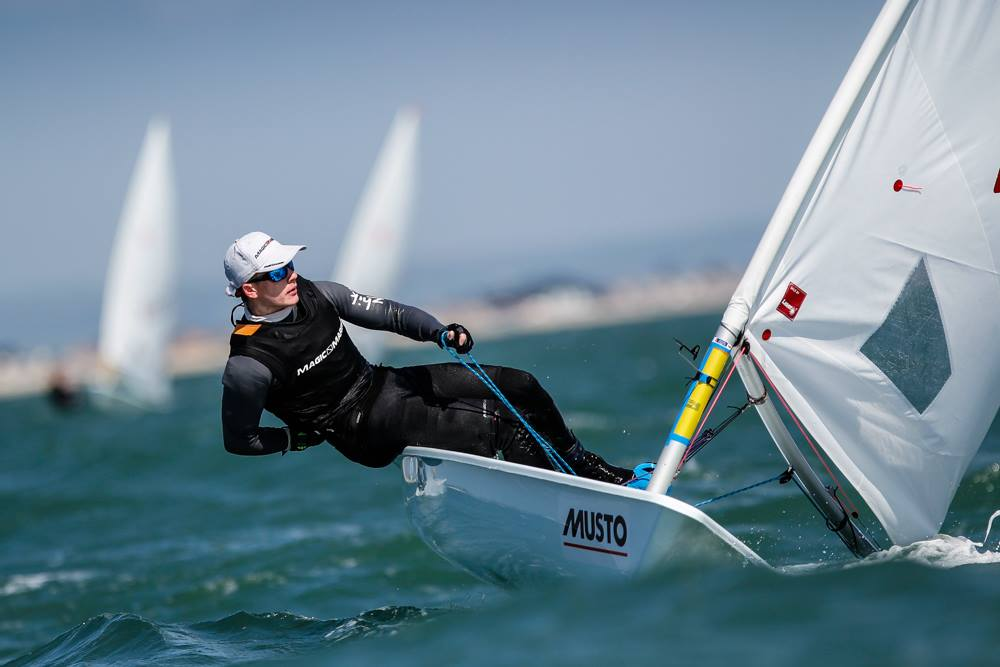 My younger brother Ben on his way to winning gold in the Laser Radial fleet.