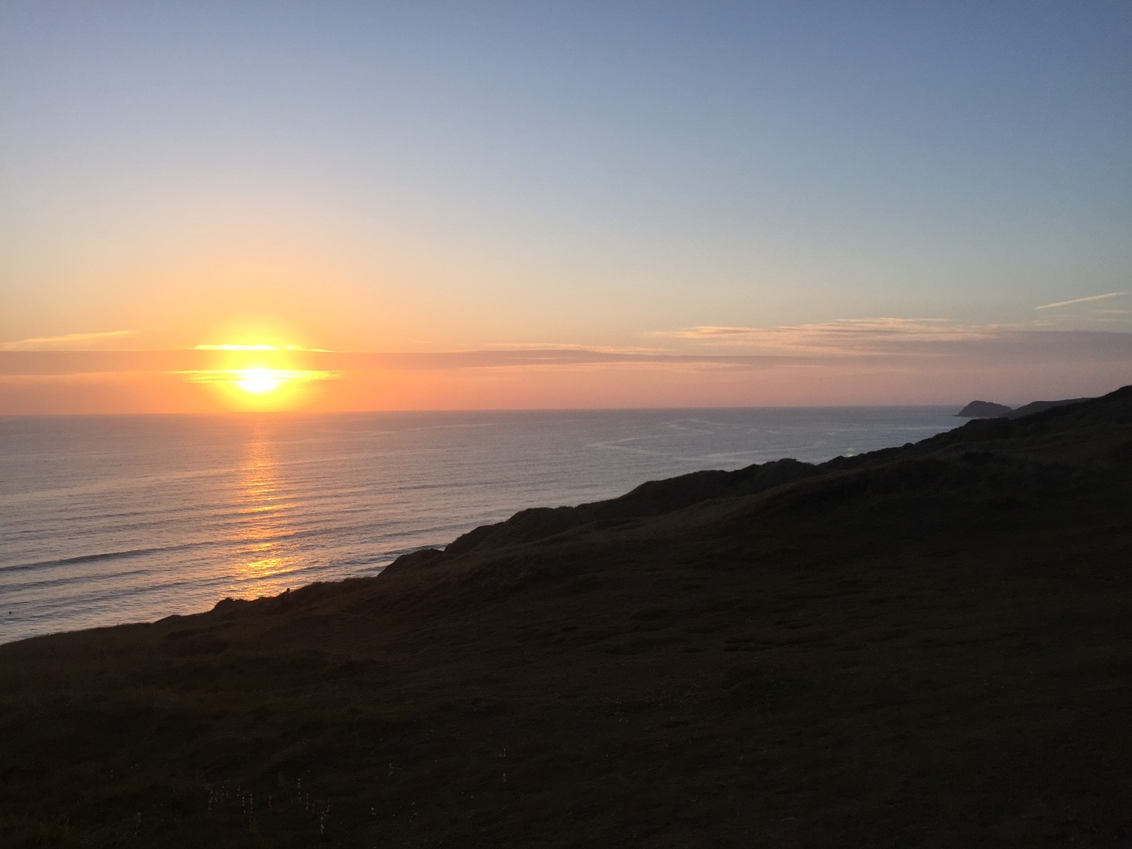 A lovely sunset whilst on holiday in Cornwall.