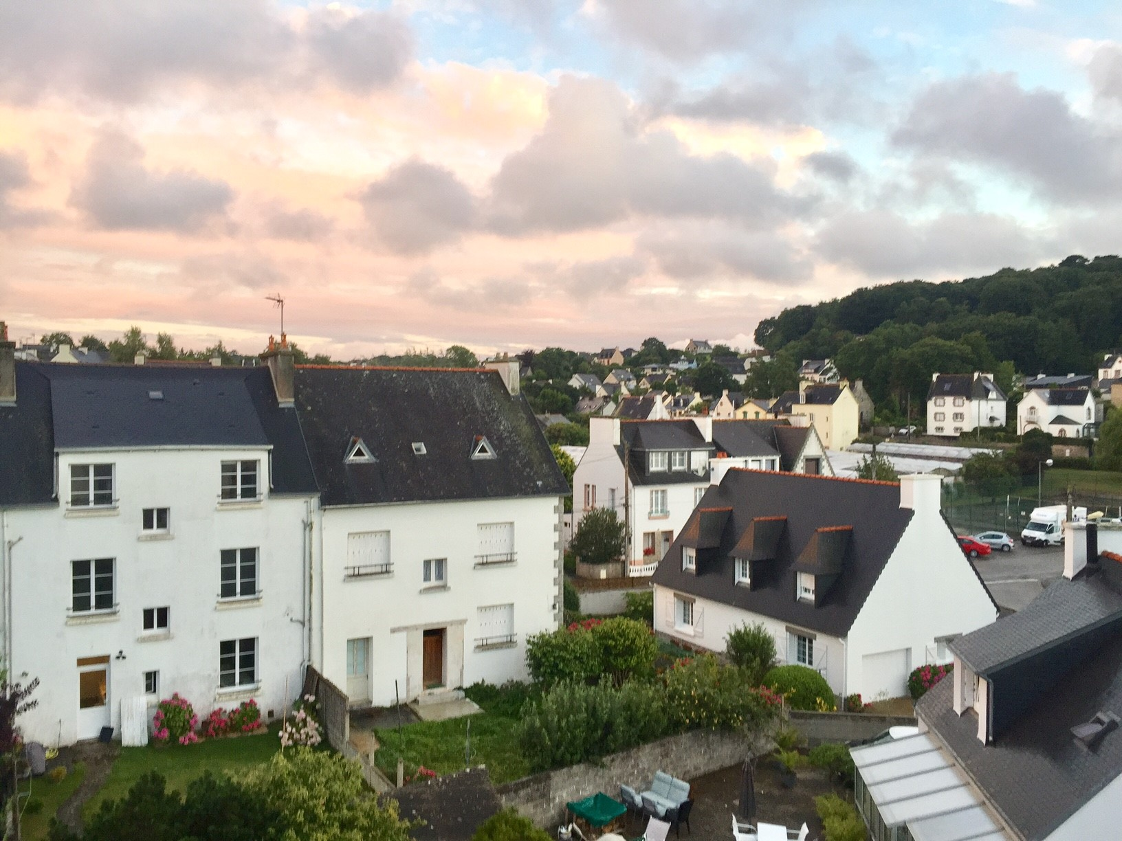 The view from our room over the surrounding town was very pretty.
