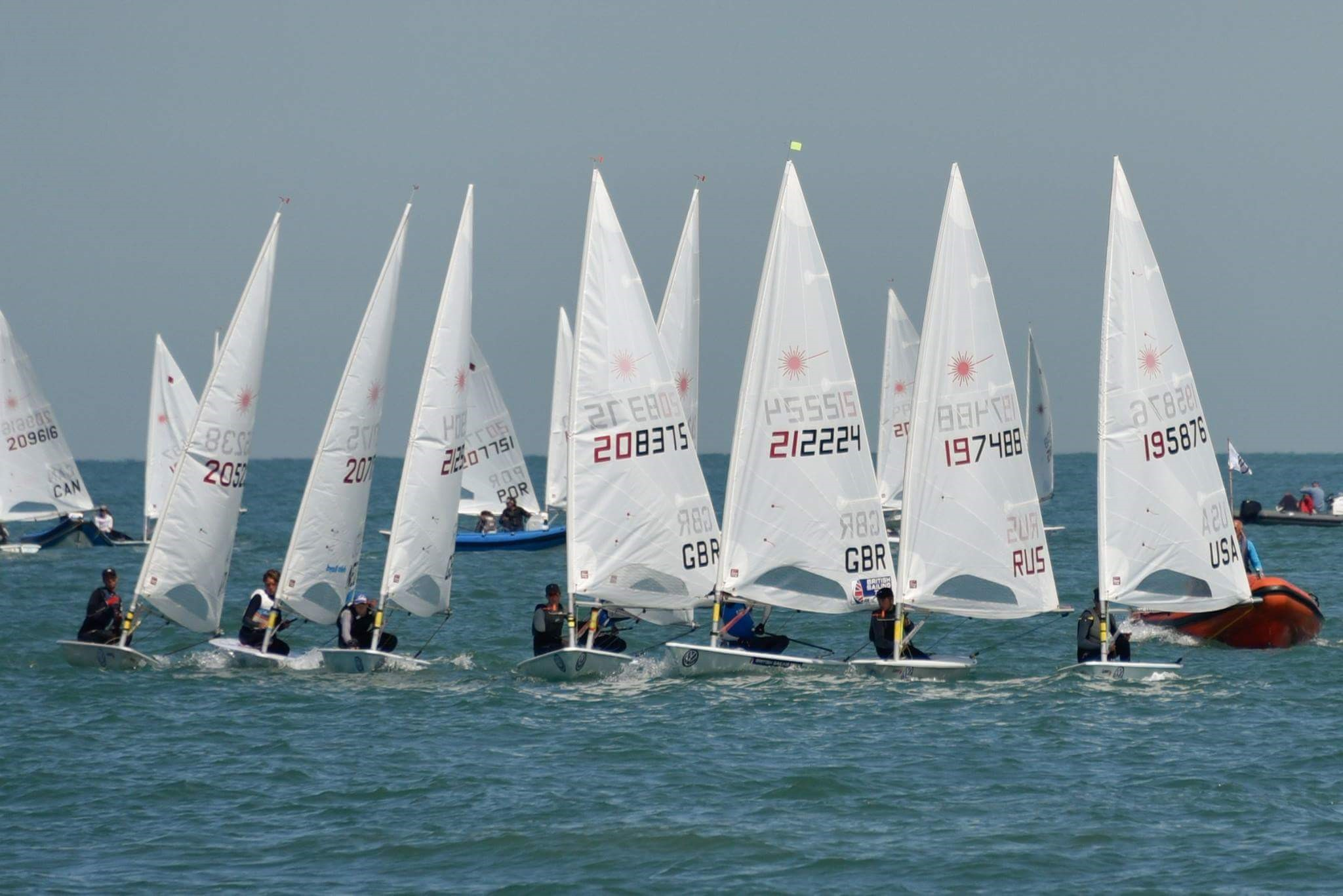 We had light winds on the penultimate day and despite attempting a start racing was soon abandoned for the day.
