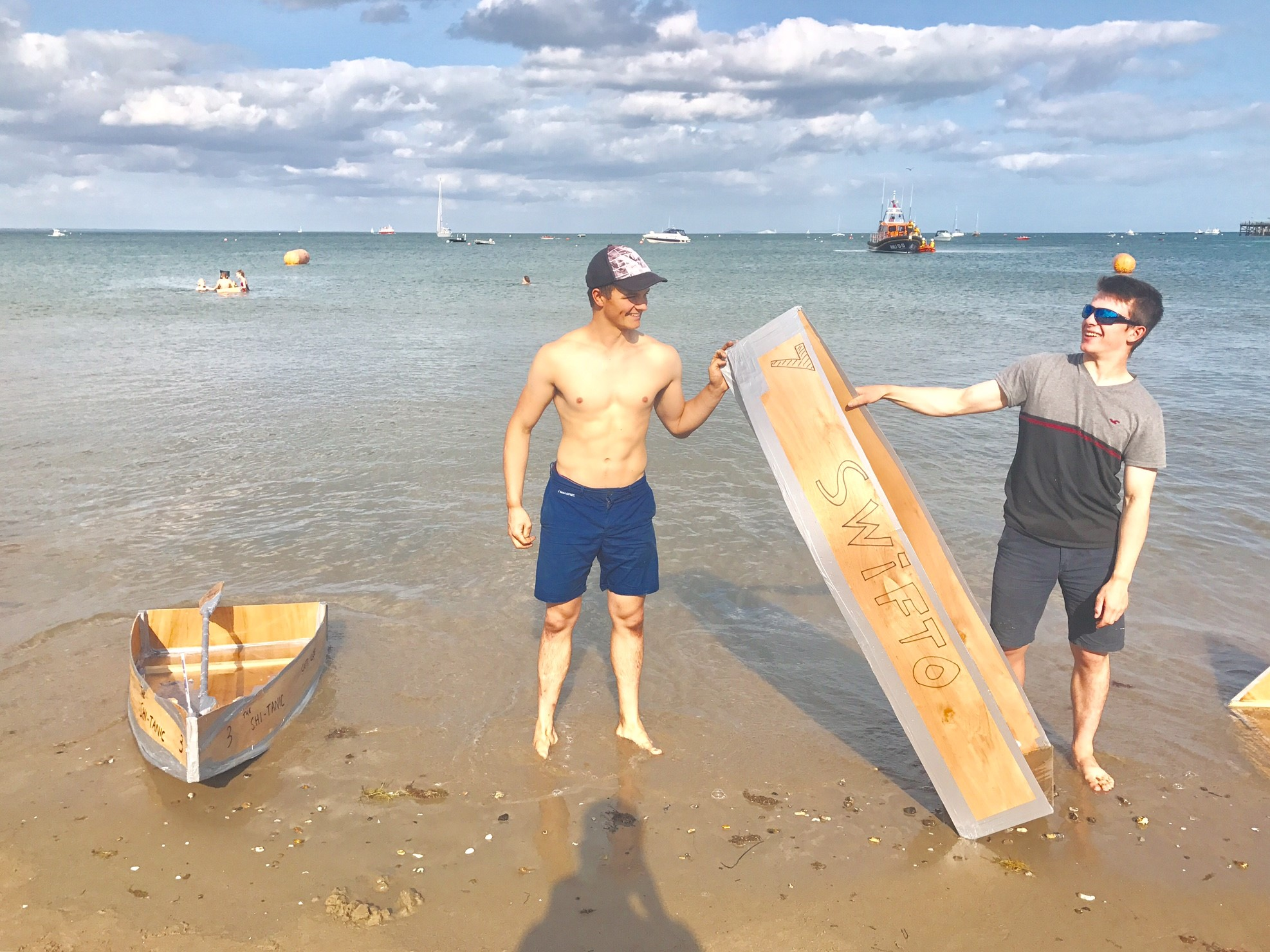 I then was around for RNLI week and entered into the build-a-boat challenge. 4 hours, 1 sheet of plywood, 30 screws, 30 nails and a whole lot of duct tape later and I had a boat to race across the bay! Unfortunately I finished second but I hope to be back next year with a better design for more.