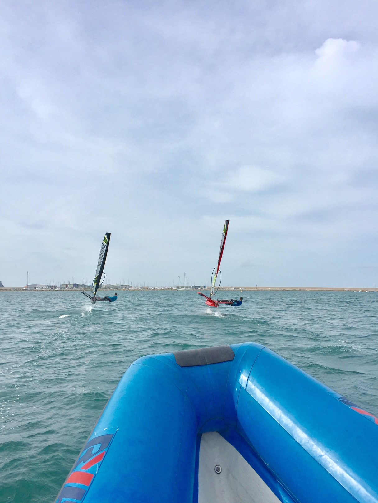 It was awesome to finally line up against another Waszp, race around Portland and then let the lads have a go at their first foiling experience.