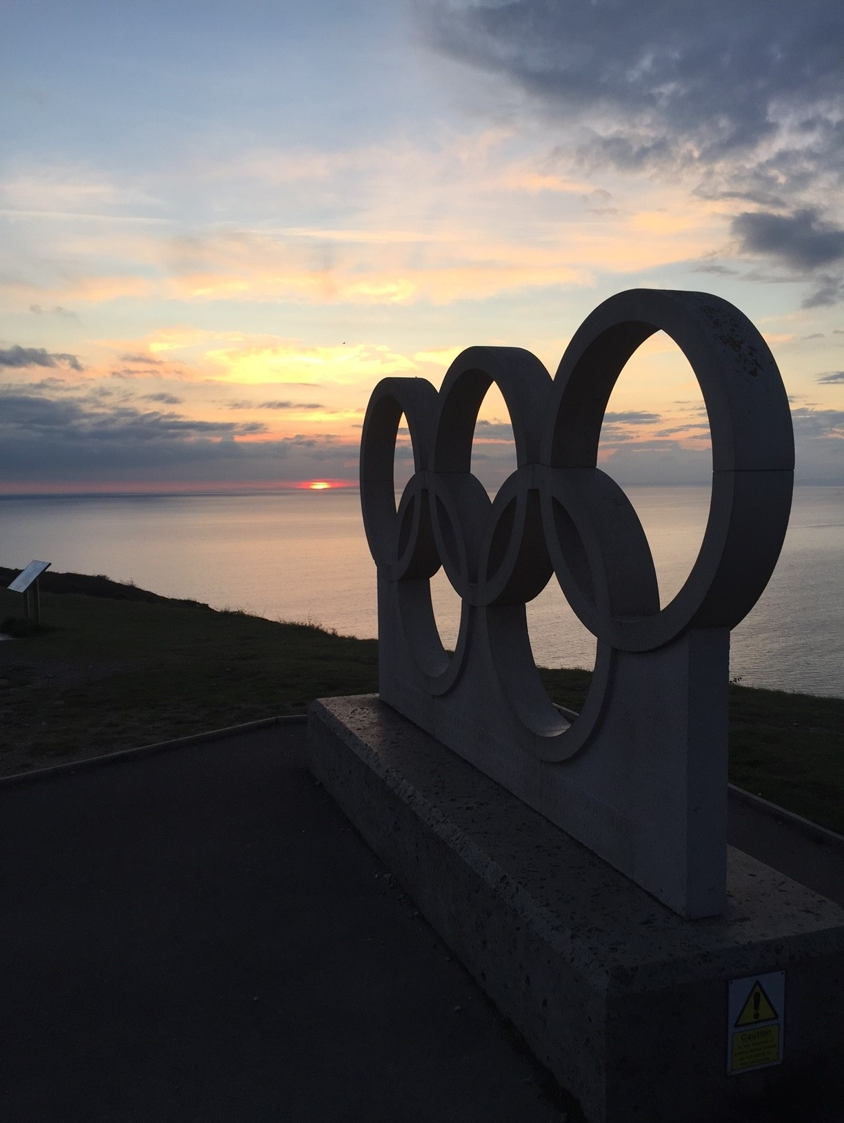 Marked my first night living in Weymouth with a trip up to the top of Portland to see the Olympic Rings next to the lovely sunset. Just ooking at this picture makes me hungry for success.