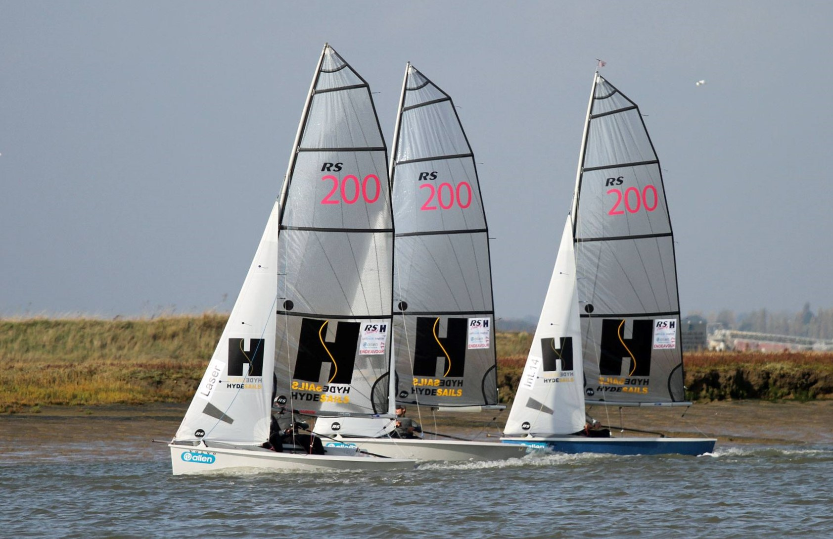 Hugging the shoreline in less tide at the Endeavour Trophy.