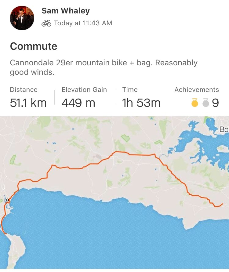 The bad sailing weather was also a great excuse to put some miles in on the bike and I have enjoyed doing some rides to and from home.