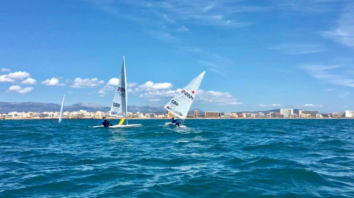 No time to rest as we went straight into a group P3 training regatta. We had some fantastic conditions in a wide range of weather, here is an example of some of the nicer stuff!