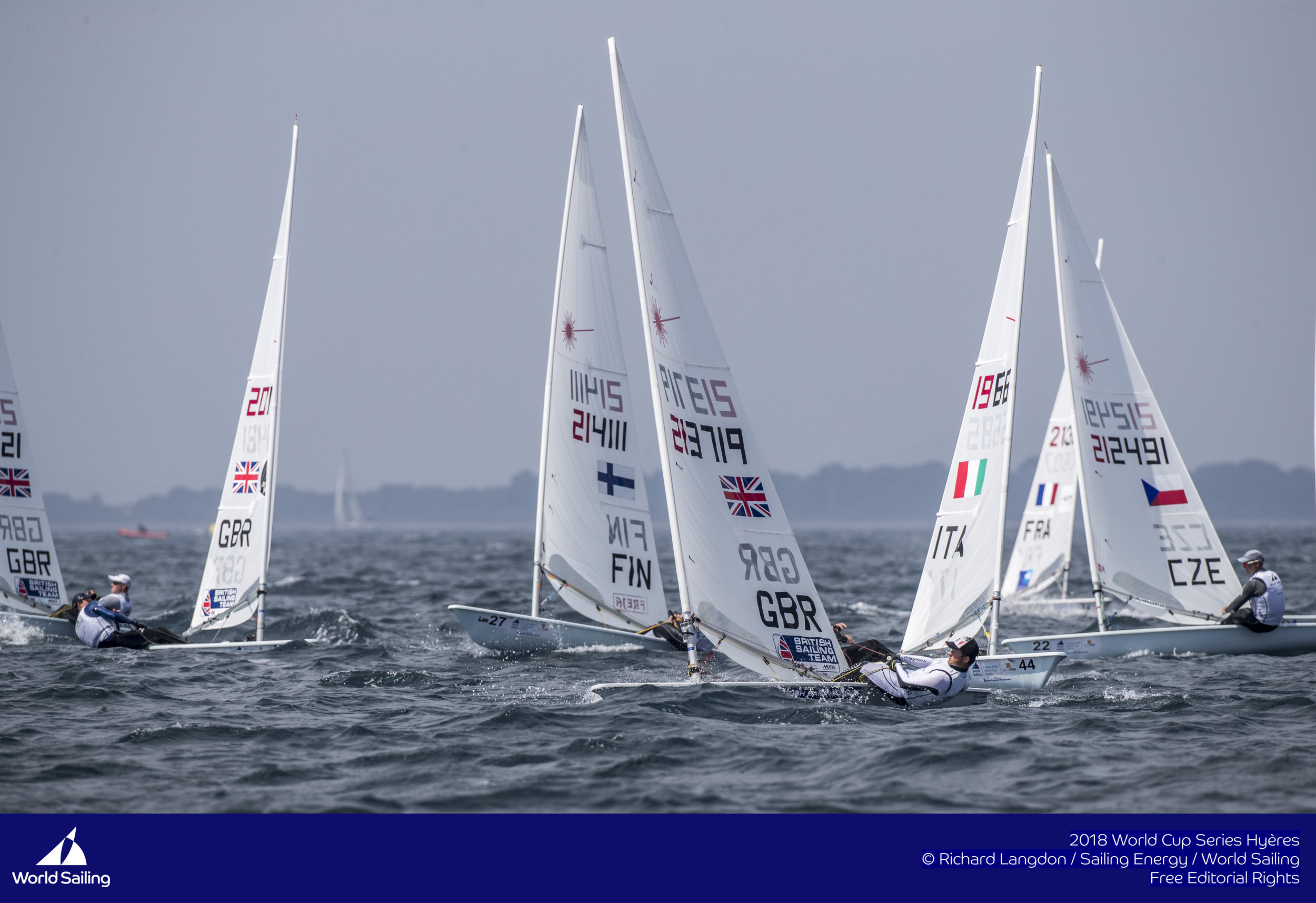 Racing started in some lovely 7-13 knot winds with sizeable sea state.