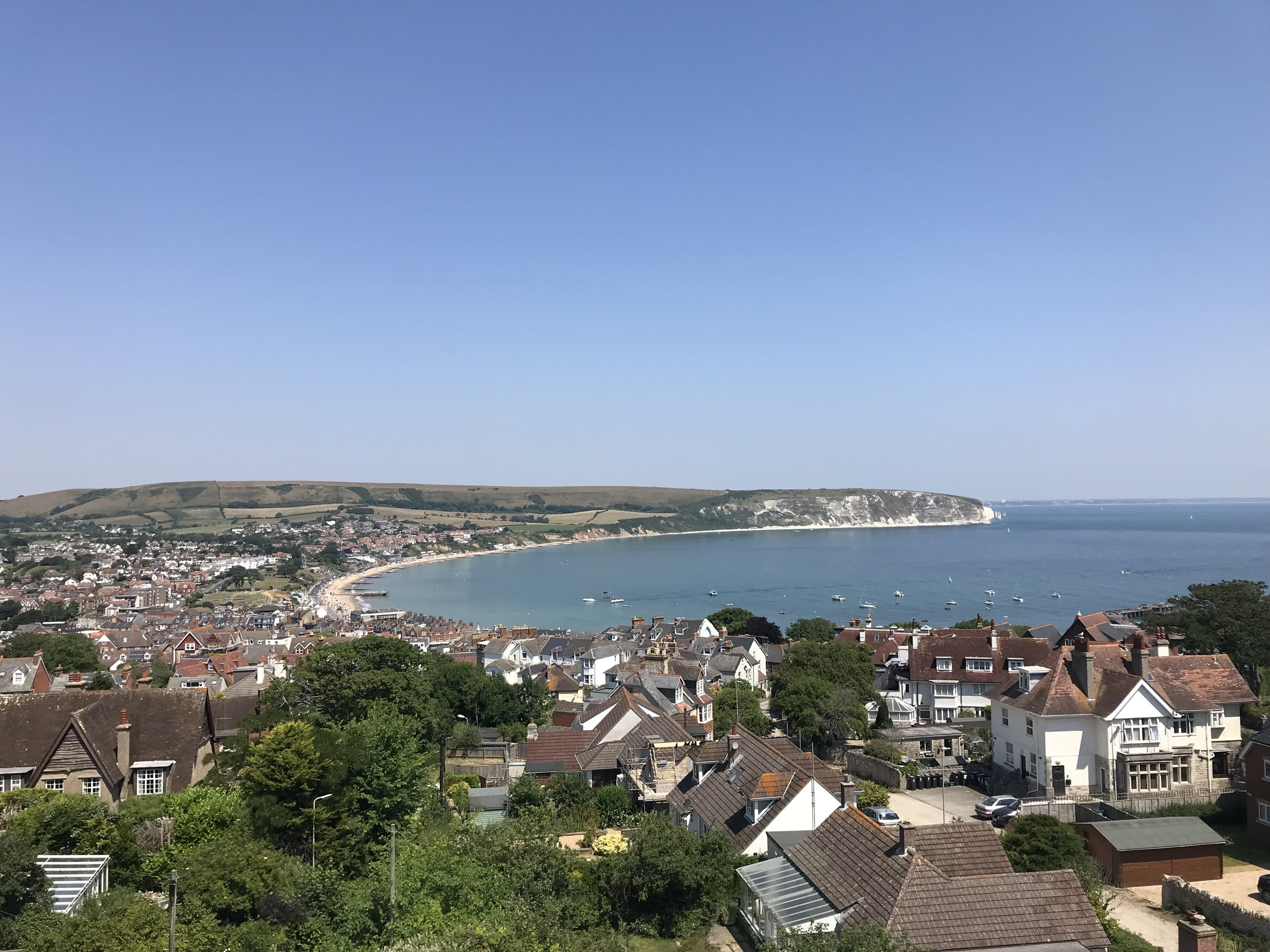 Returning back home to Swanage in baking heat and sun, if not a touch too little wind!