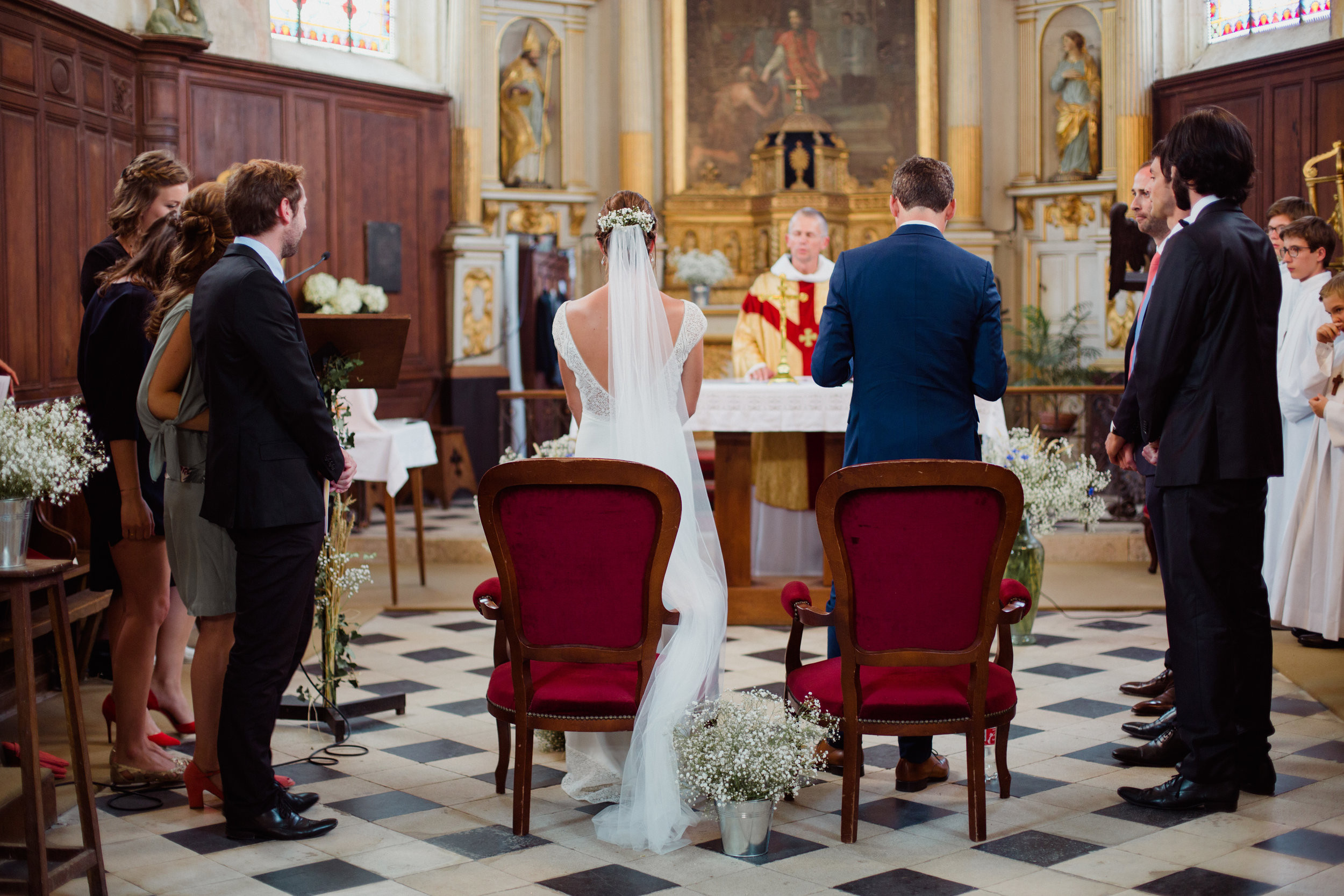 cérémonie religieuse mariage Gypsophile Orléans photographe Pauline Maroussia P Bordeaux Dordogne
