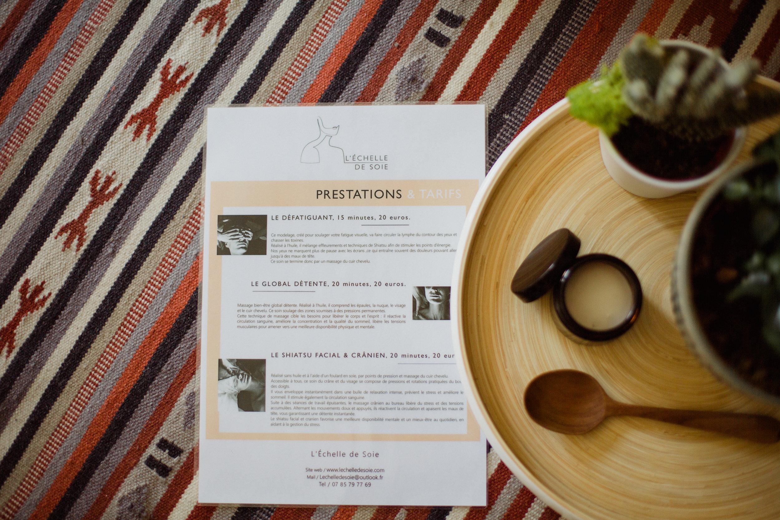 échelle de Soie massages bien-être contemporains nomades activités lendemain de mariage