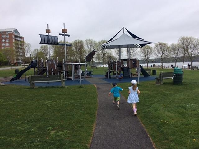 Dewolf Park's nautically themed playground, Bedford