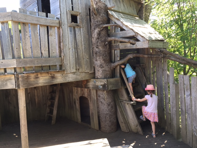Triple tree house in Discovery Woods