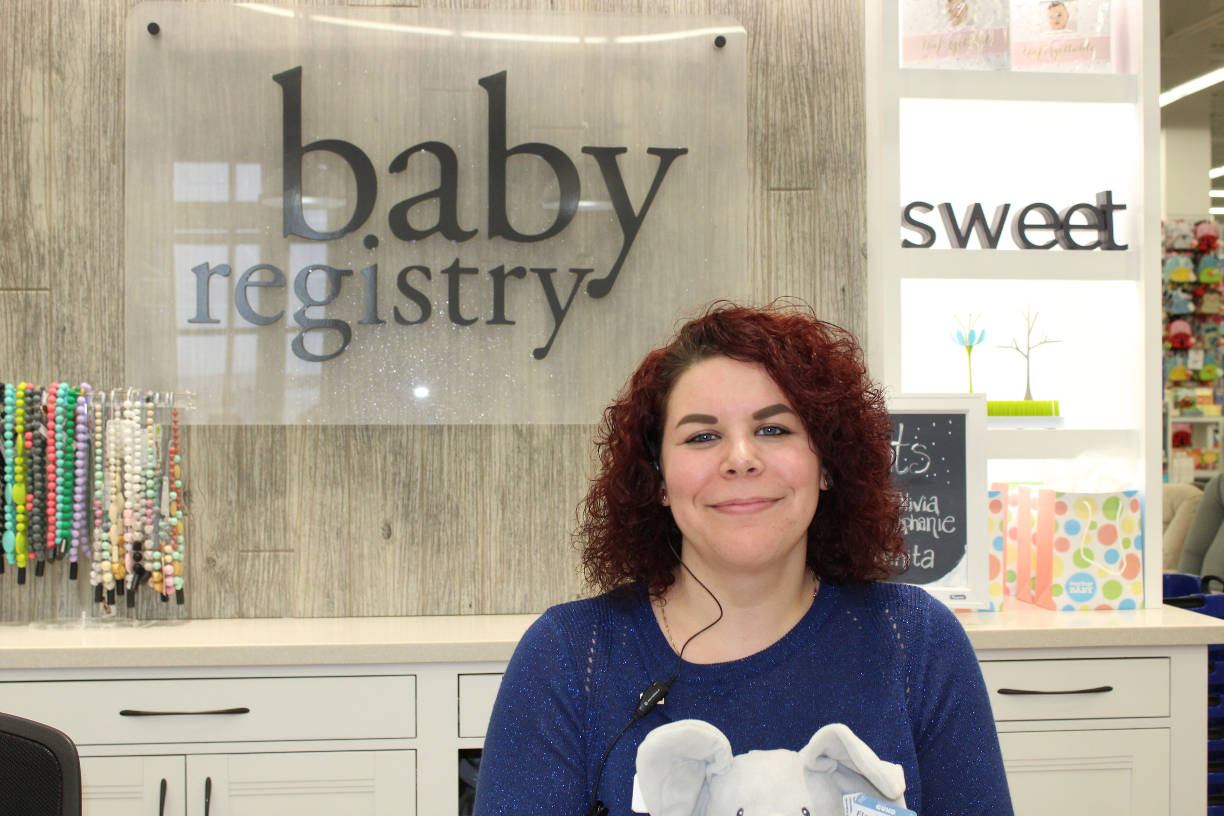 Friendly faces like Amber's are eager to help you create the perfect Baby Registry