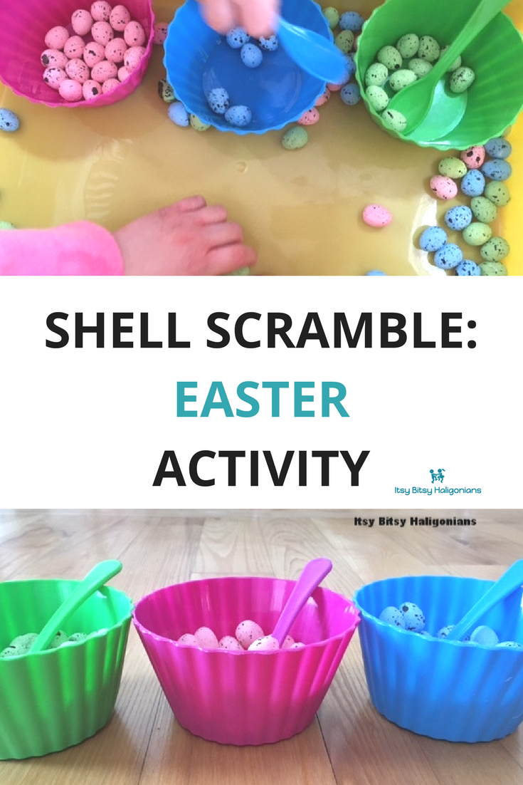 This Easter shell scramble game teaches colours, matching, fine motor skills and more!.png