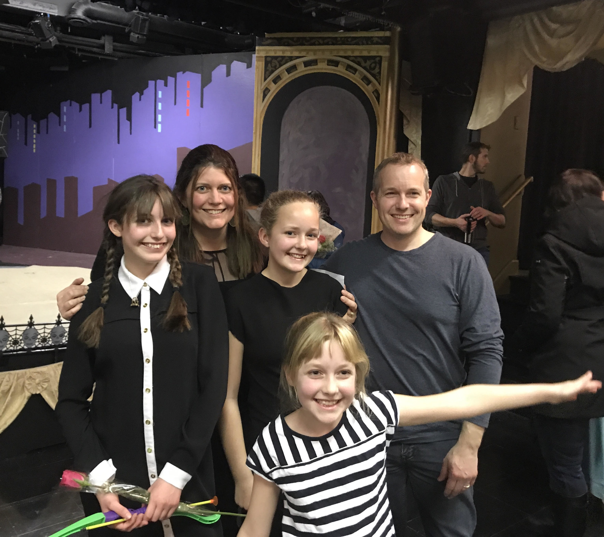 The Langille Family enjoy both attending local performances - as well as being part of them!
