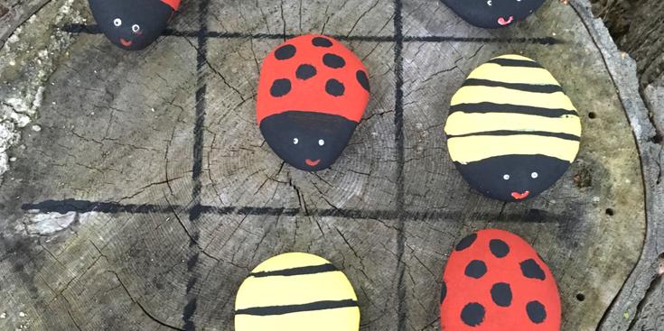 Ladybug and Bumblebee Tic Tac Toe