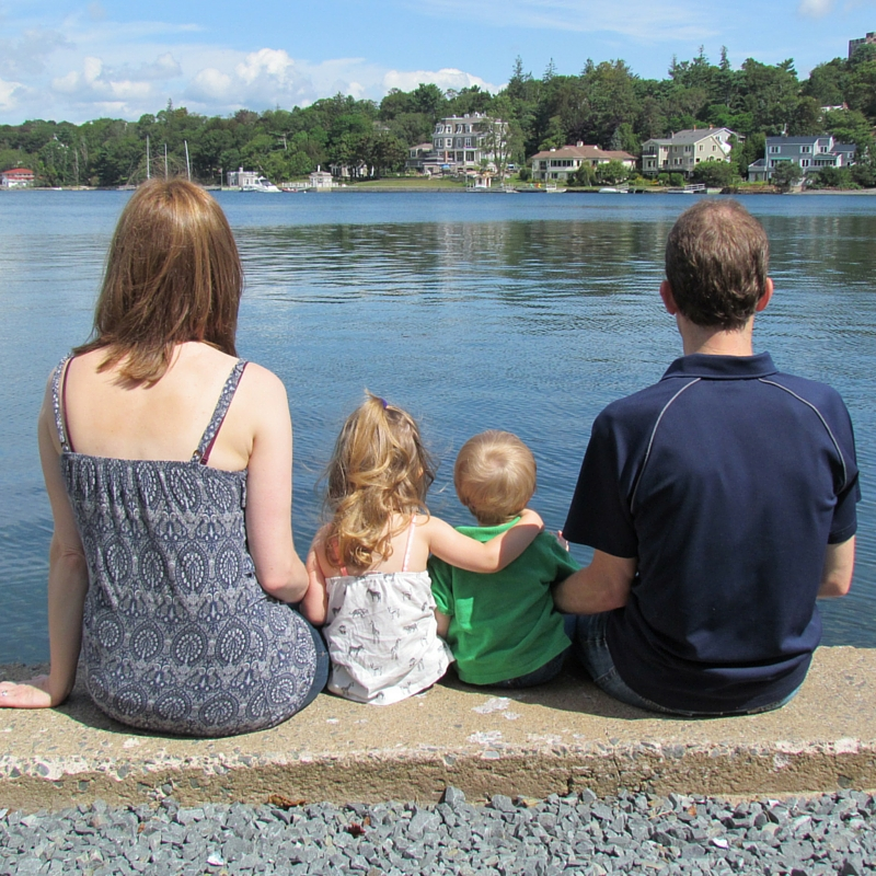 Our Family: 2014, ages 3 and 1 at the Dingle